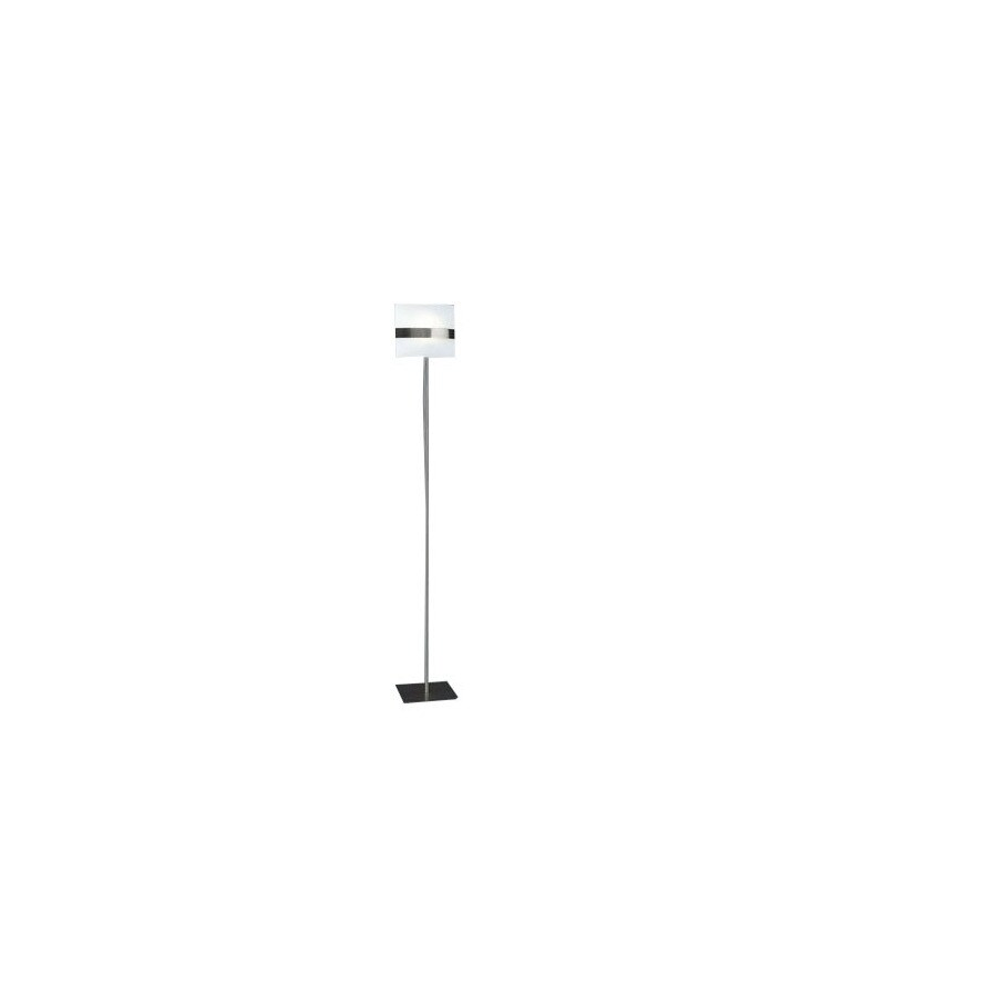 Shop philips 661 in matte chrome floor lamp with glass shade at philips 661 in matte chrome floor lamp with glass shade aloadofball Gallery