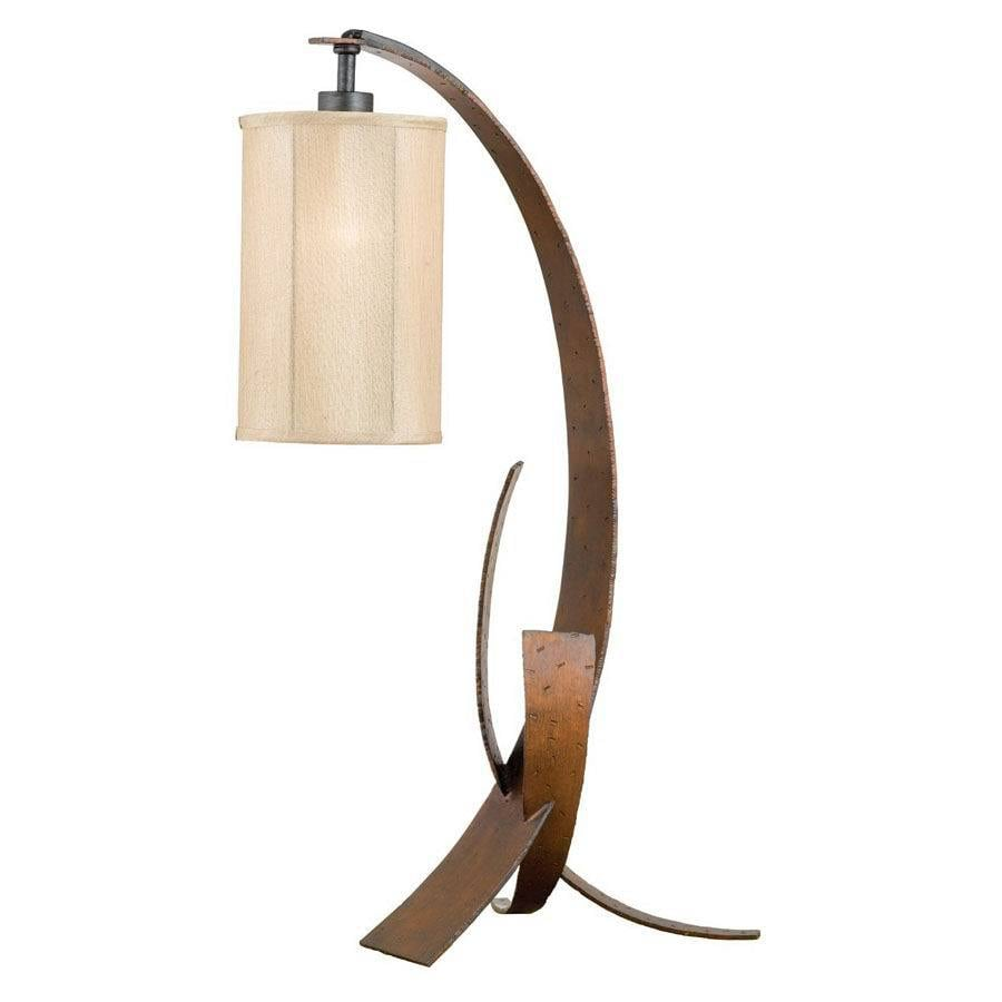 Varaluz 30-in 3-Way Switch Aspen Bronze/Hammered Ore Indoor Table Lamp with Fabric Shade