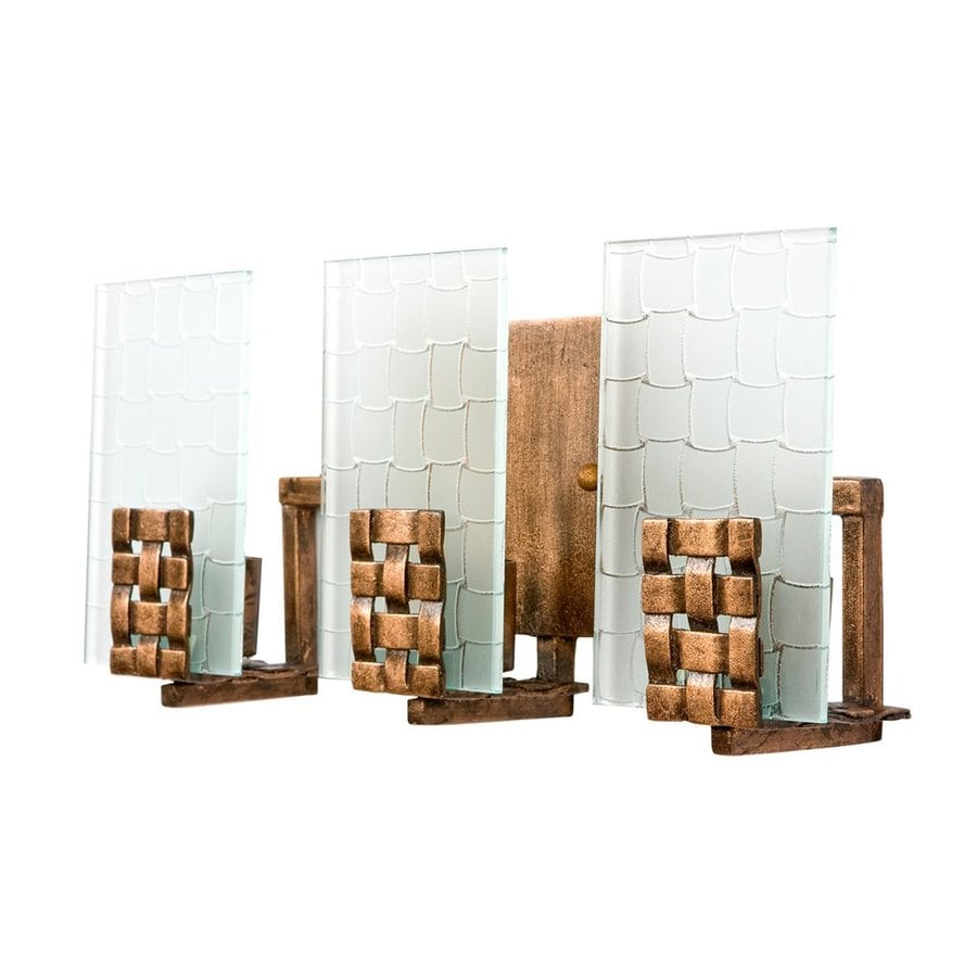 Varaluz Dreamweaver 3-Light 6.75-in Blackened Copper Rectangle Vanity Light