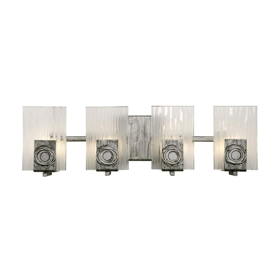 Varaluz Polar 4-Light 6.75-in Blackened Silver Rectangle Vanity Light