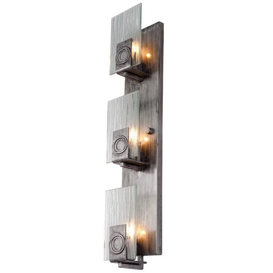 Varaluz Polar 4.5-in W 3-Light Blackened Silver Arm Hardwired Wall Sconce