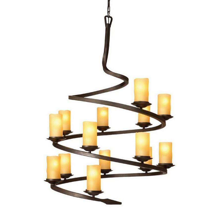 Shop artcraft lighting candlelight 14 light oil rubbed bronze artcraft lighting candlelight 14 light oil rubbed bronze chandelier mozeypictures Images