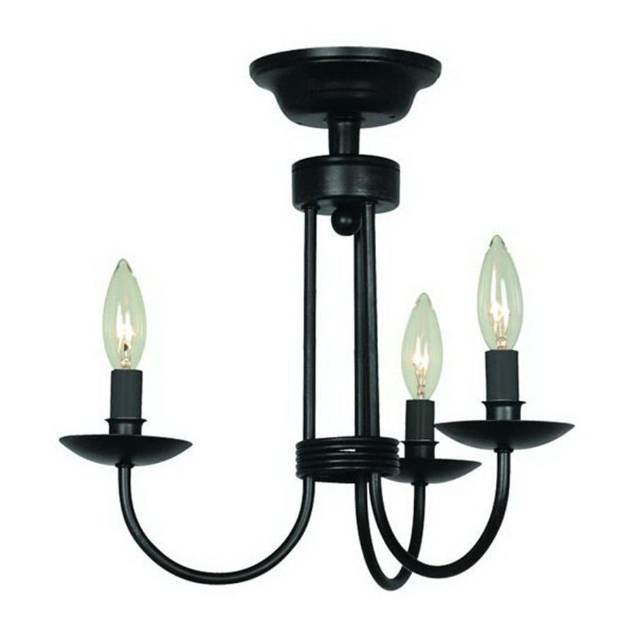 Shop artcraft lighting 3 light ebony black chandelier at lowes artcraft lighting 3 light ebony black chandelier aloadofball Gallery