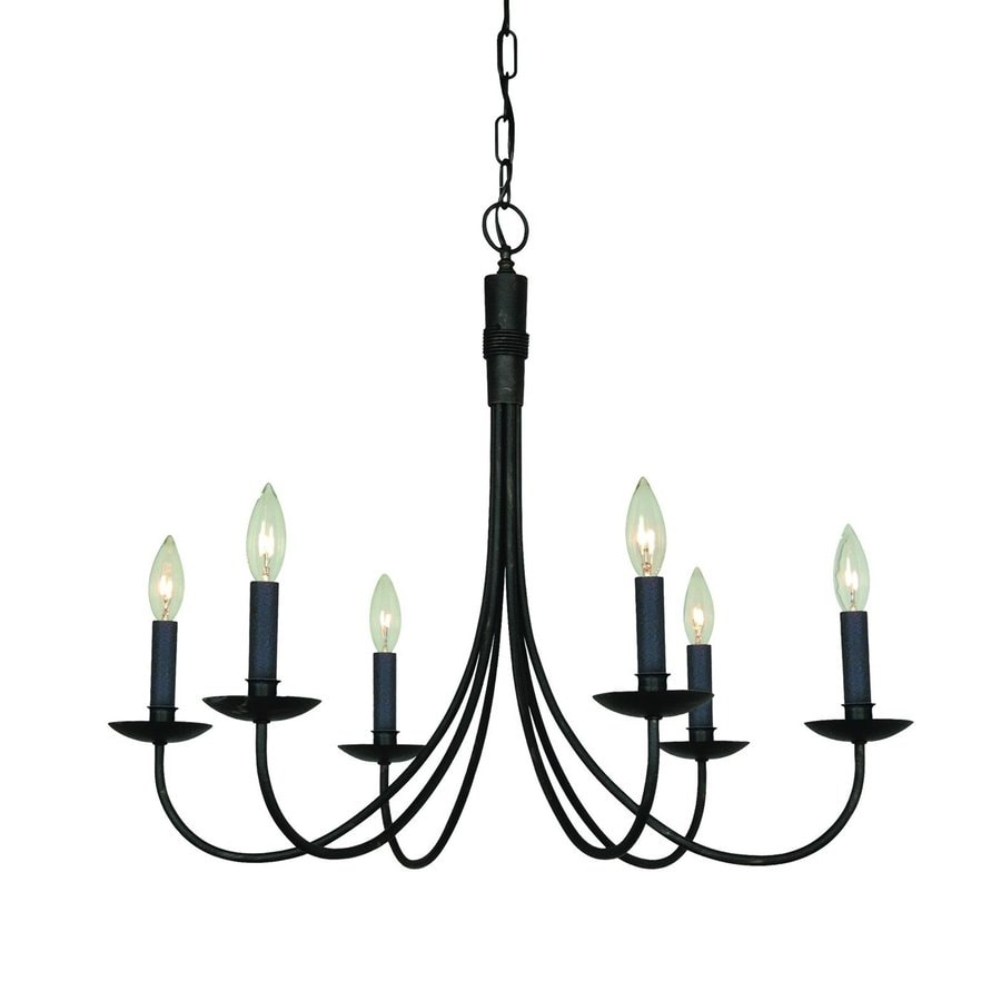 Shop Artcraft Lighting Wrought Iron 28in 6Light Ebony black