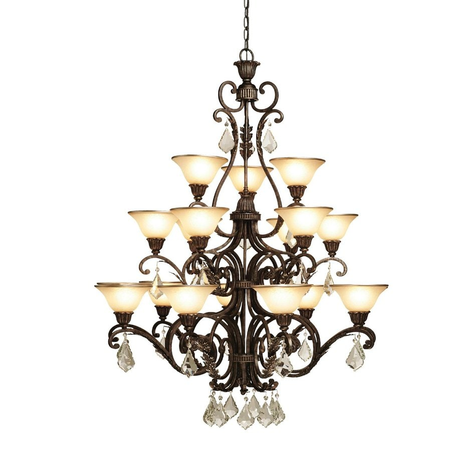 Artcraft Lighting Florence 44-in 18-Light Bronze Mediterranean Tiered Chandelier