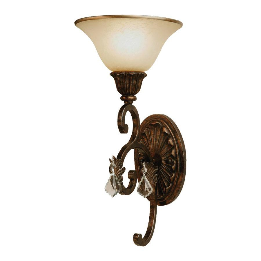 Artcraft Lighting Florence 8-in W 1-Light Oil Rubbed Bronze Arm Wall Sconce