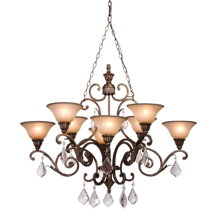 Artcraft Lighting Florence 43-in 8-Light Bronze Mediterranean Shaded Chandelier