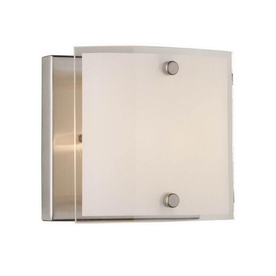 Artcraft Lighting Brentwood 4.8-in W 1-Light Brushed Nickel Pocket Hardwired Wall Sconce