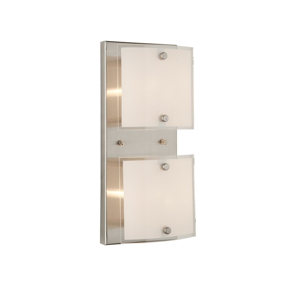 Artcraft Lighting Brentwood 2-Light 4.8-in Brushed Nickel Square Vanity Light