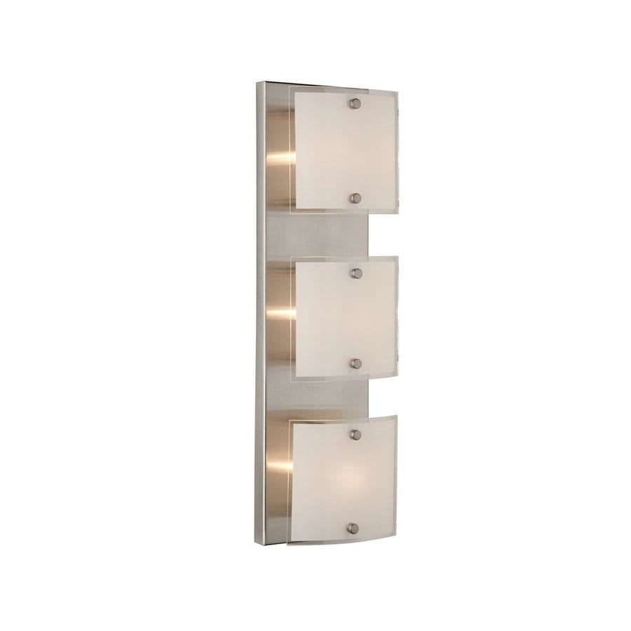 Artcraft Lighting Brentwood 3-Light 4.8-in Brushed Nickel Square Vanity Light
