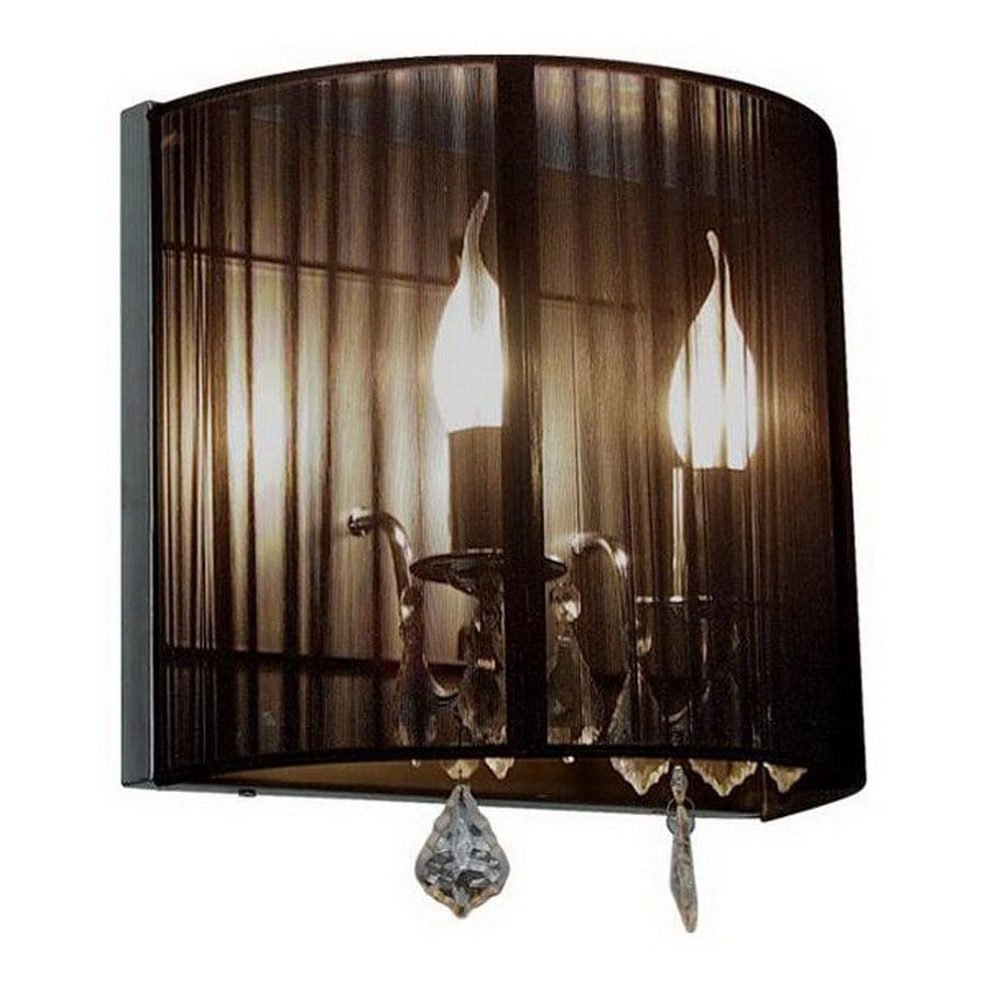Artcraft Lighting Claremont 9-in W 1-Light Polished Nickel Pocket Hardwired Wall Sconce