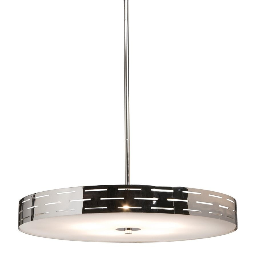 Artcraft Lighting Seattle 16-in Polished Chrome Single Drum Pendant