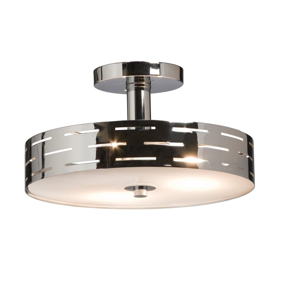 Shop artcraft lighting seattle 12 in w polished chrome frosted artcraft lighting seattle 12 in w polished chrome frosted glass semi flush mount light mozeypictures Gallery