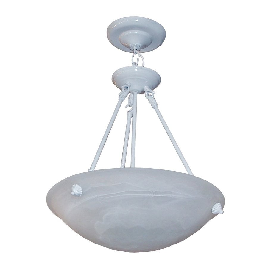 Whitfield Lighting Lindsey 16 In White Alabaster Glass Bowl Pendant
