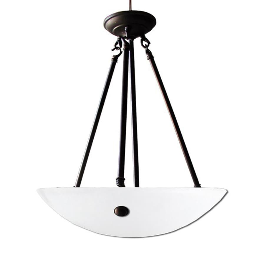 Whitfield Lighting Kirsten 16-in Ebony Bronze Bowl Pendant