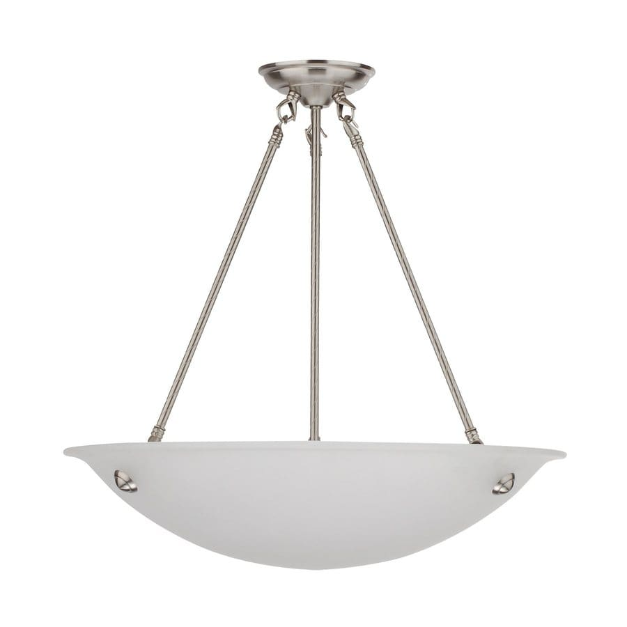 Whitfield Lighting Austin 20-in Satin Steel Country Cottage Bowl Pendant