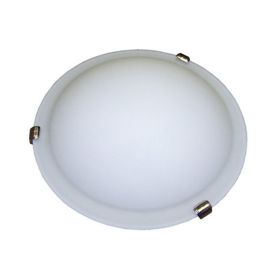 Whitfield Lighting 16-in W Satin Nickel Ceiling Flush Mount