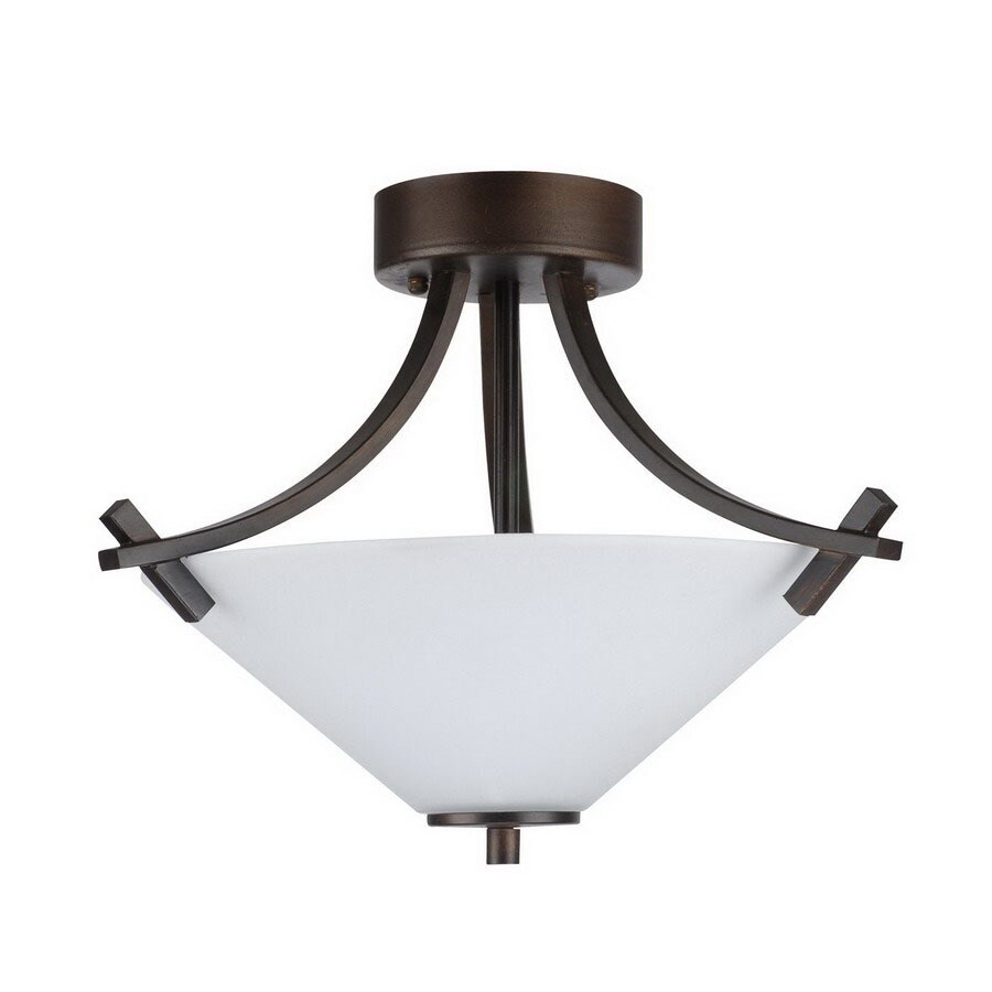 Whitfield Lighting 16-in W Oil Rubbed Bronze Semi-Flush Mount Light