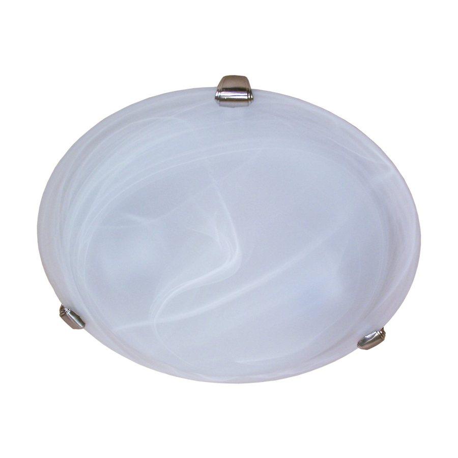 Whitfield Lighting 12-in W Satin Steel Ceiling Flush Mount Light