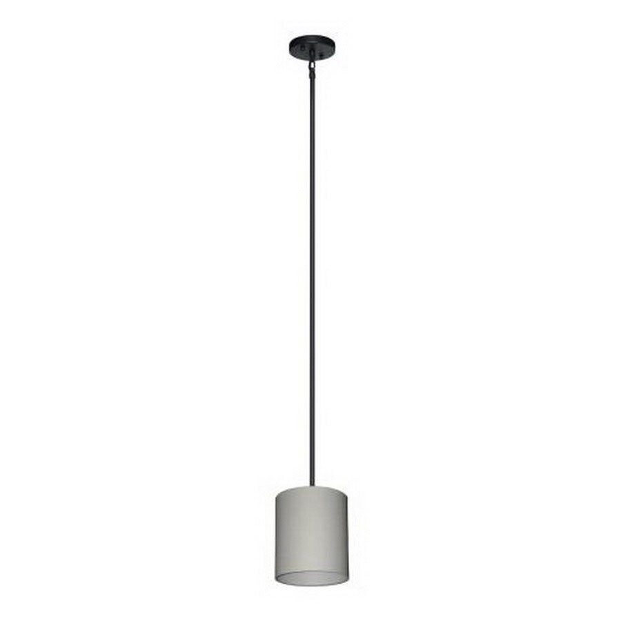 Shop whitfield lighting drum shade 7 in w ebony bronze mini pendant whitfield lighting drum shade 7 in w ebony bronze mini pendant light with fabric shade aloadofball Gallery