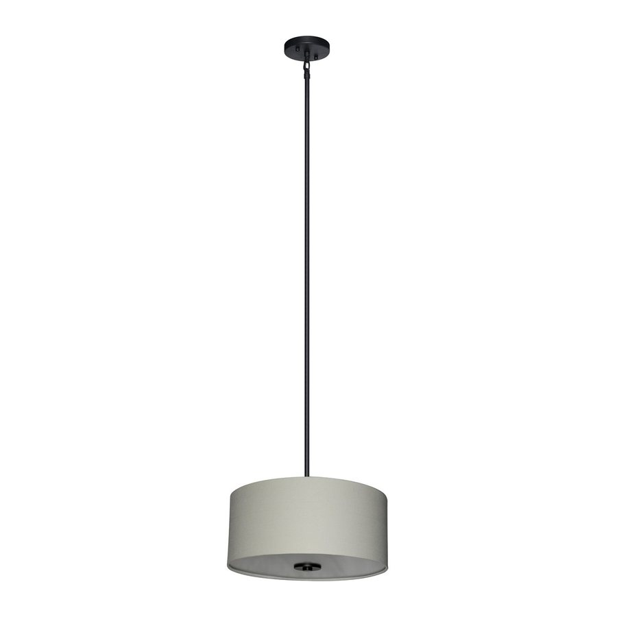 Shop Whitfield Lighting Modena 16 In Ebony Bronze Drum Pendant At