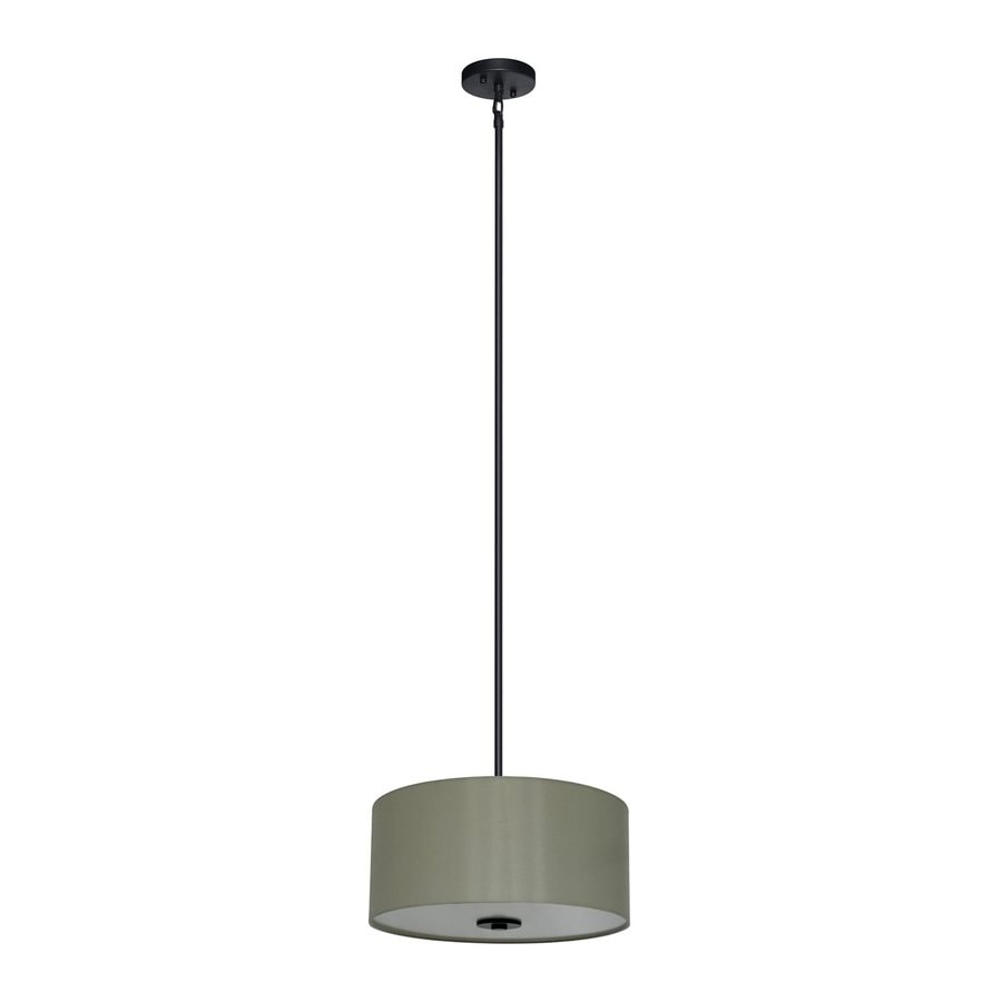 Whitfield Lighting Modena 16-in Ebony Bronze Drum Pendant