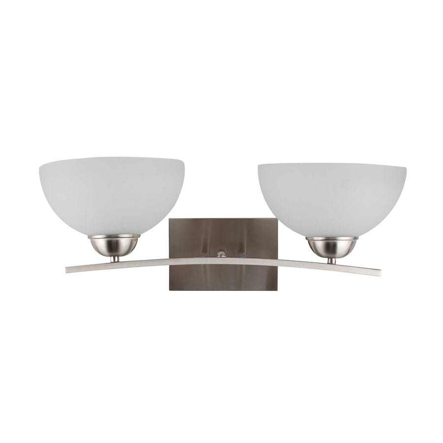 Whitfield Lighting Mickayla 2-Light 8-in Satin Steel Bowl Vanity Light