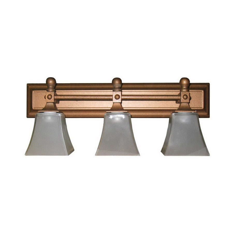 Whitfield Lighting 3 Light Gail Brunt Copper Bathroom Vanity