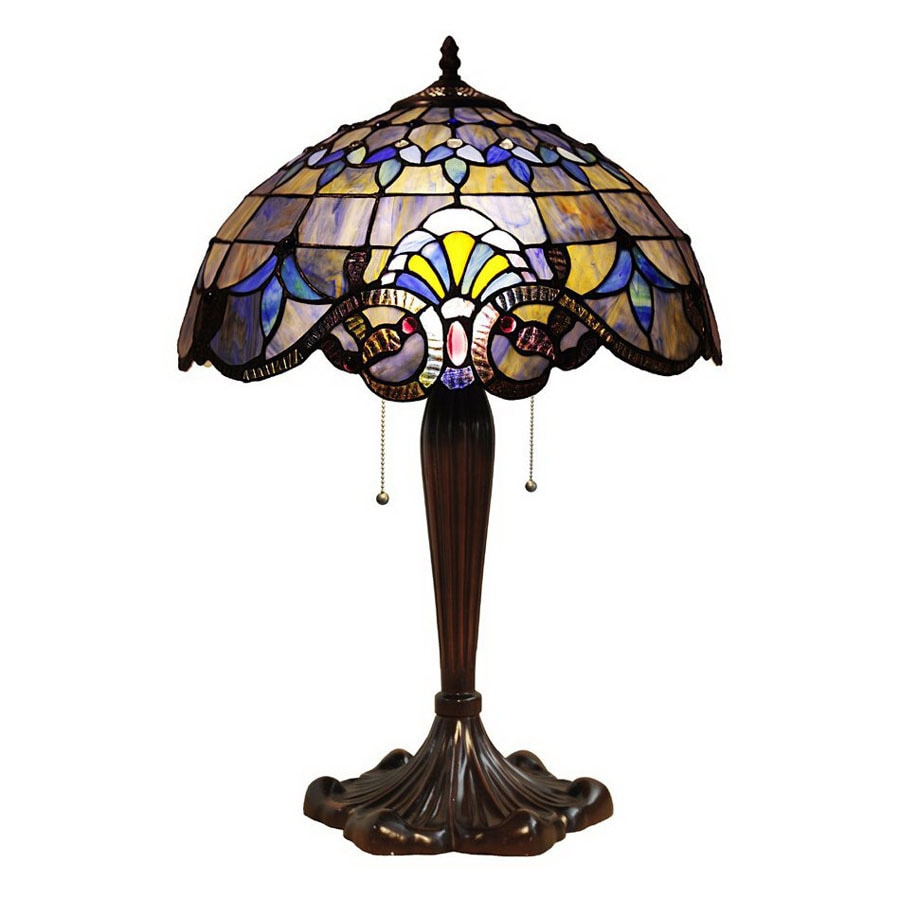 Chloe Lighting 24-in Tiffany-Style Indoor Table Lamp with Glass Shade