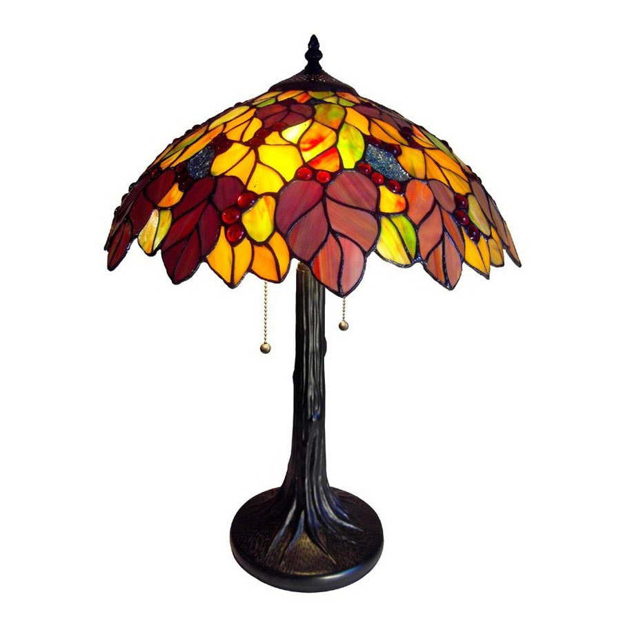 Lamparas Color Glass Led Table Lamp Hand Made Tiffany Desk: Shop Chloe Lighting 23-in Bronze Tiffany-Style Indoor
