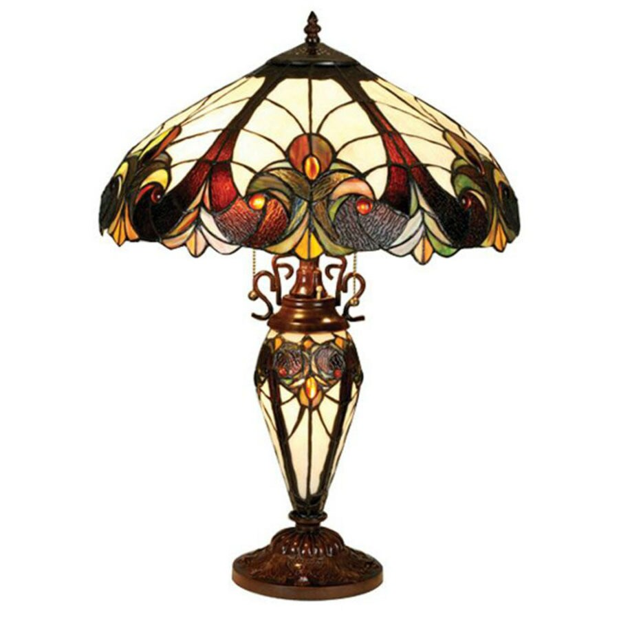 Chloe Lighting 25 In Tiffany Style Indoor Table Lamp With Glass Shade
