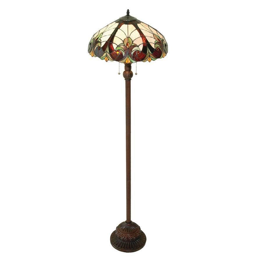 Chloe Lighting 63-in Tiffany-Style Shaded Floor Lamp Indoor Floor Lamp with Glass Shade