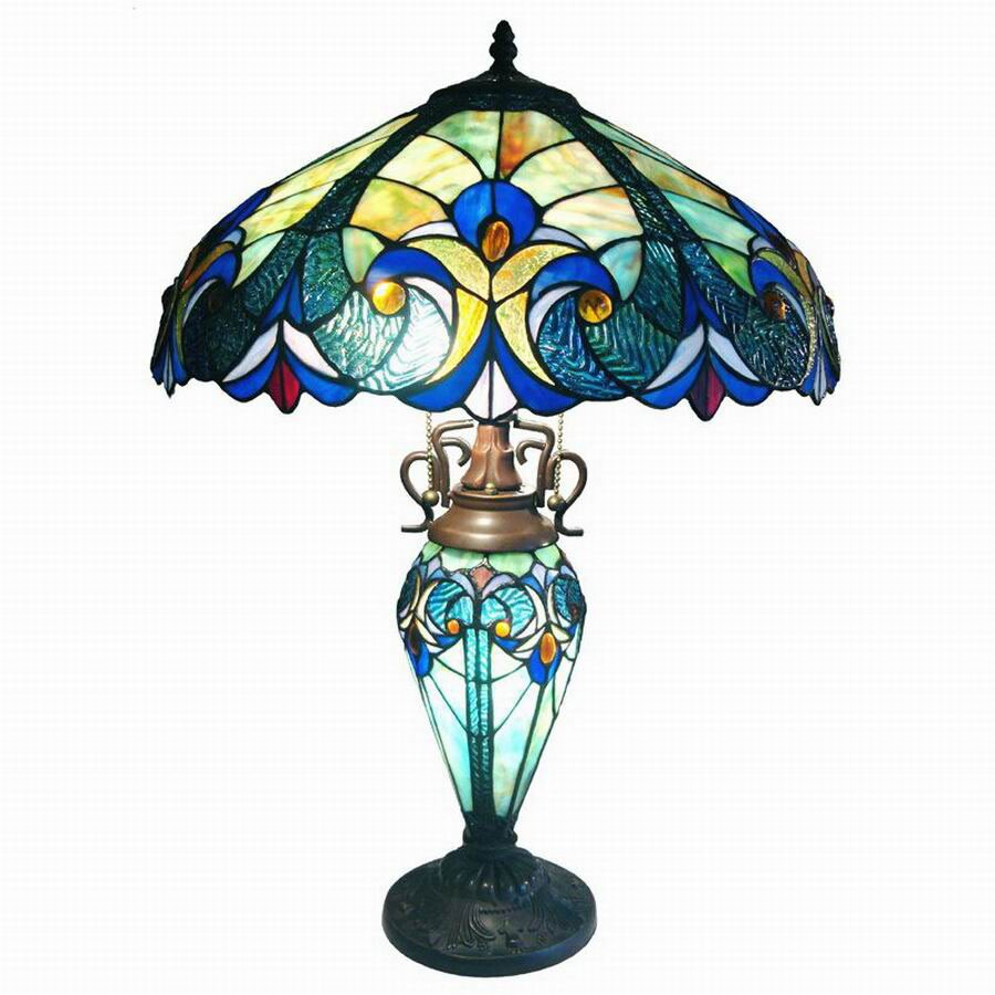 Chloe Lighting 26-in Tiffany-Style Indoor Table Lamp with Glass Shade