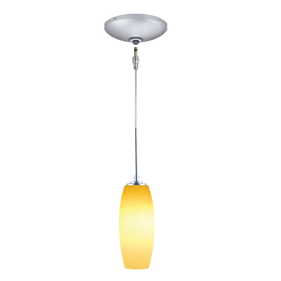 JESCO Soffi 3.75-in Satin Nickel Hardwired Mini Cylinder Pendant