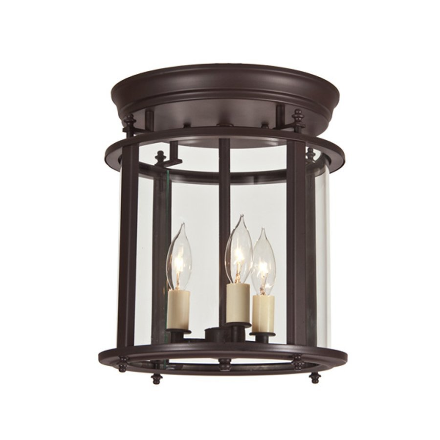 JVI Designs Murray Hill 10.5-in W Oil rubbed bronze Flush Mount Light