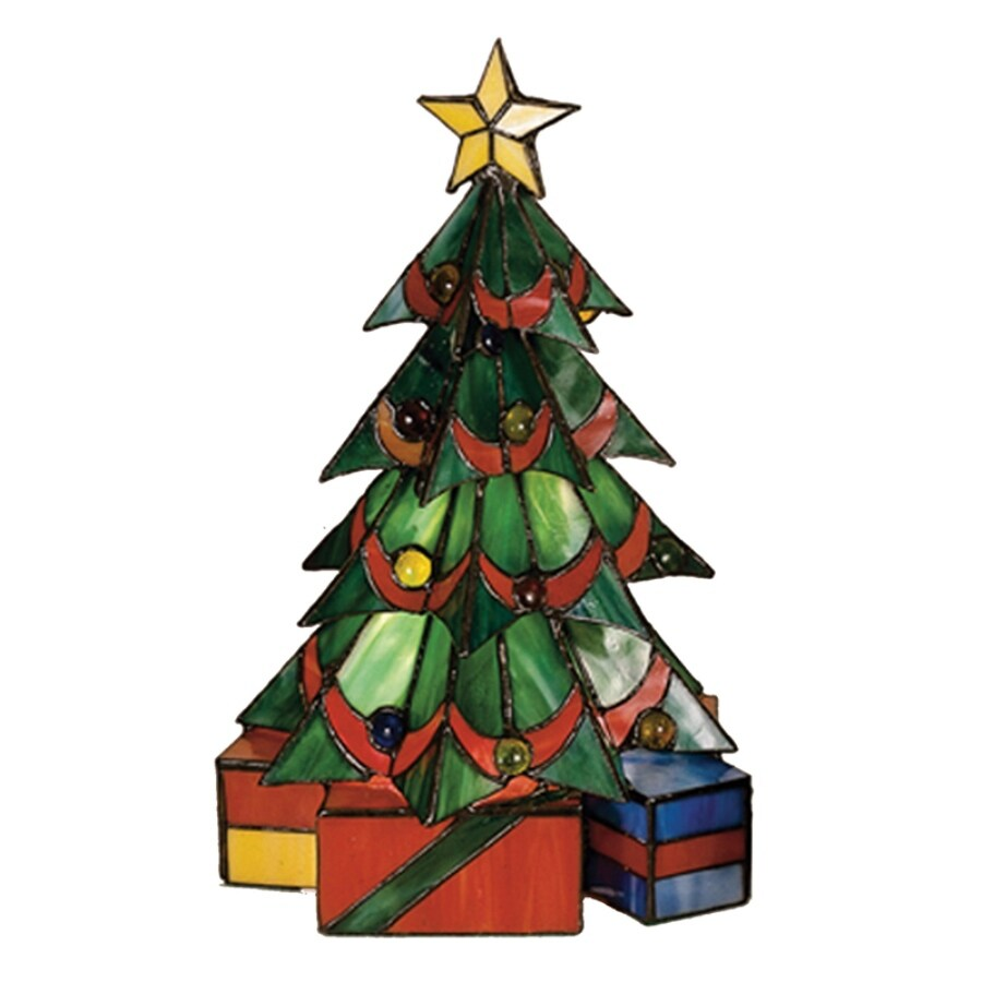 Shop meyda tiffany christmas tree 16 in tiffany style indoor table meyda tiffany christmas tree 16 in tiffany style indoor table lamp with glass shade aloadofball Gallery