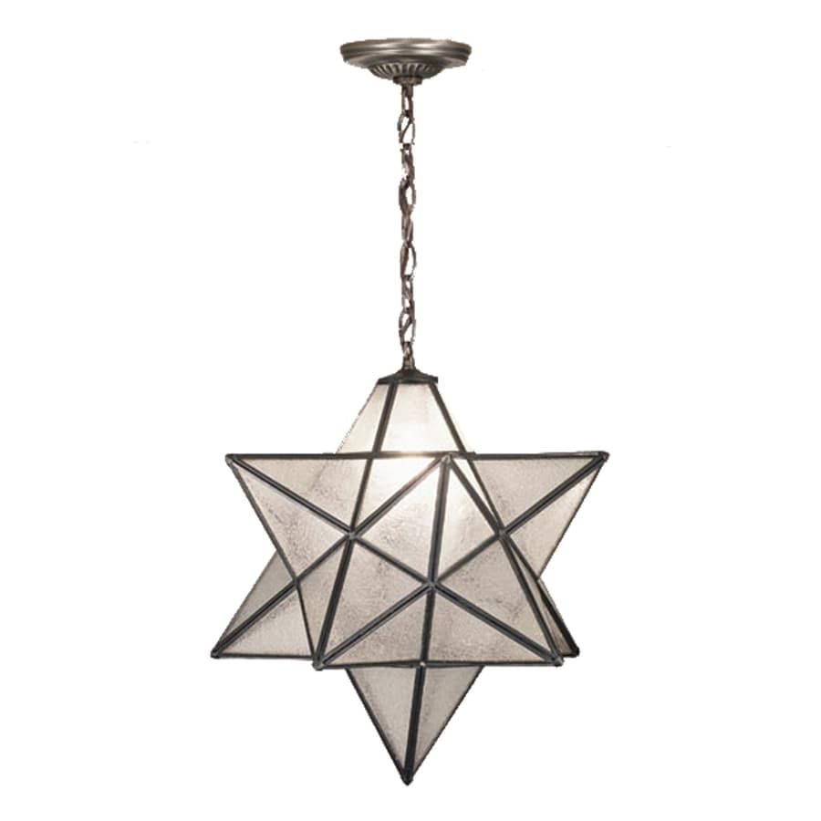 Meyda Tiffany Moravian Star 18-in Mahogany Bronze Single Seeded Glass Star Pendant