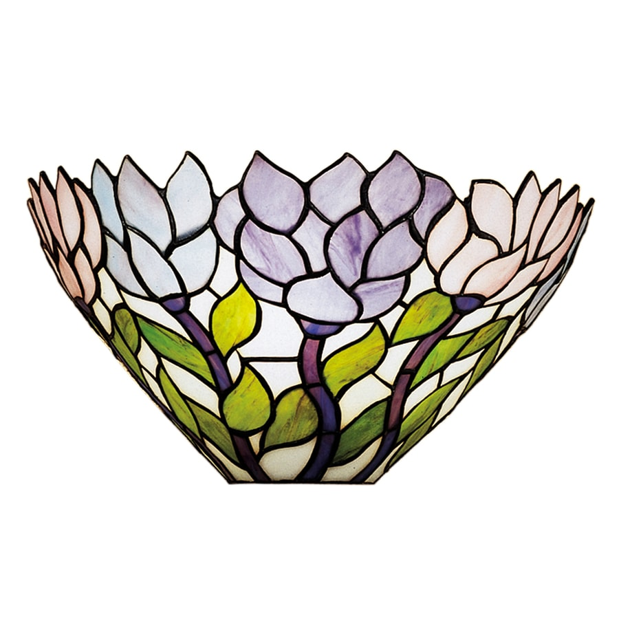 Meyda Tiffany Wisteria 14-in W 1-Light Tiffany-style Pocket Wall Sconce
