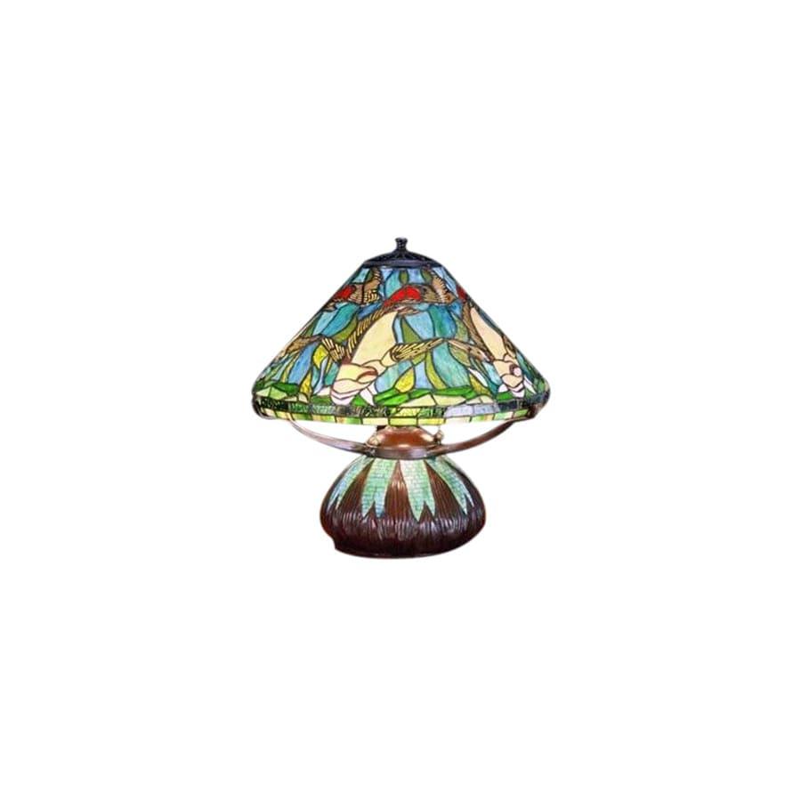 Meyda Tiffany 16-in Tiffany-Style Table Lamp with Glass Shade