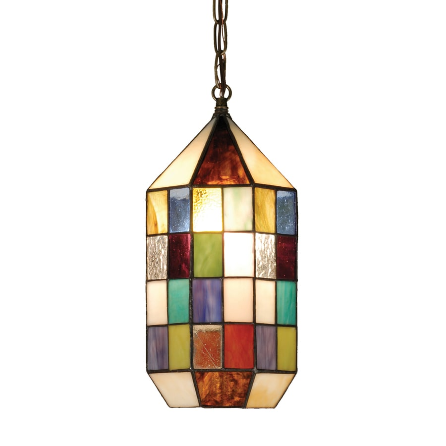 Meyda Tiffany Meyer 6-in Tiffany-Style Hardwired Mini Stained Glass Cylinder Pendant