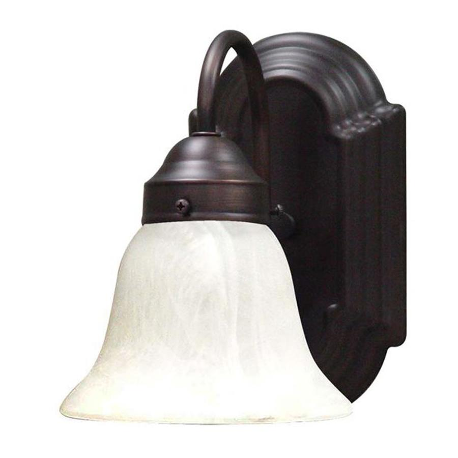 Volume International Minster 6-in W 1-Light Antique bronze Arm Wall Sconce