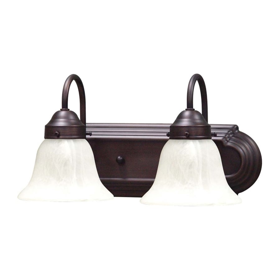Volume International Minister 2-Light 8-in Antique Bronze Bell Vanity Light Bar