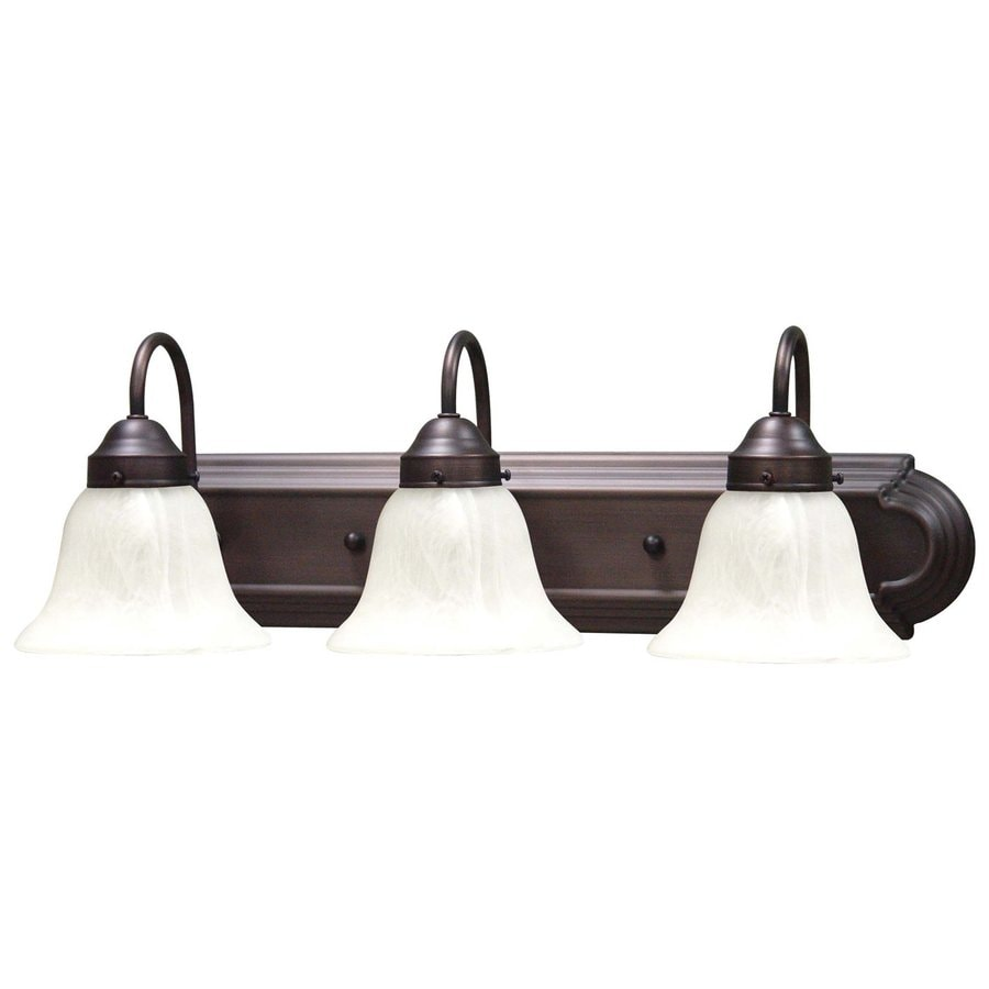 Shop Volume International Minister 3-Light 8-in Antique Bronze Bell Vanity Light Bar at Lowes.com