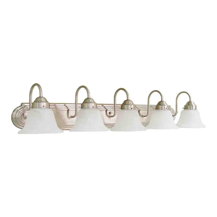 Volume International Minister 5-Light 8-in Brushed Nickel Bell Vanity Light Bar