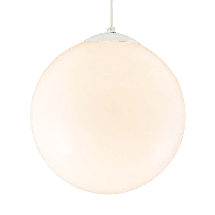 Volume International 14-in White Industrial Single Globe Pendant