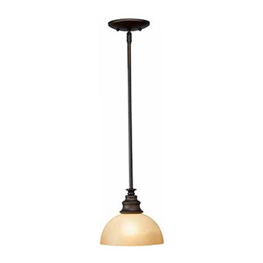 Volume International Rainier 7.25-in Foundry Bronze Vintage Mini Tinted Glass Dome Pendant