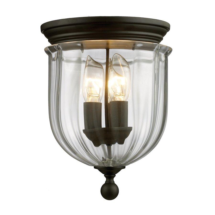 Z-Lite Warwick 8.5-in W Bronze Ceiling Flush Mount Light