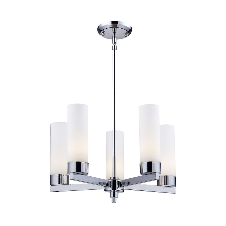 Z-Lite Ibis 20-in 5-Light Chrome Shaded Chandelier