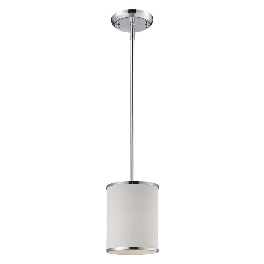 Z-Lite Cameo 6-in Chrome Mini Cylinder Pendant