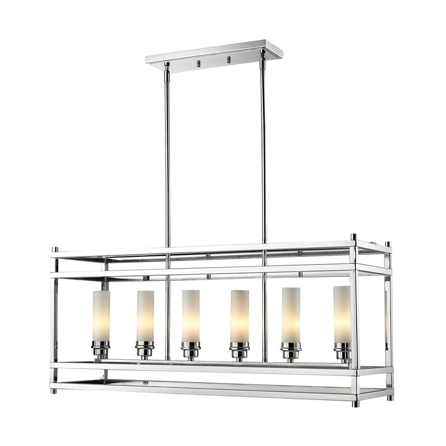 Z-Lite Altadore 35-in W 6-Light Chrome Kitchen Island Light with  sc 1 st  Loweu0027s & Shop Z-Lite Altadore 35-in W 6-Light Chrome Kitchen Island Light ...